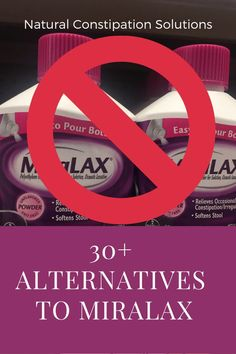 Alternatives to Miralax - Miralax is not recommended for use for more than 7 days and contains polyethylene glycol which kills off gut bacteria. There are many safe and effective alternatives for immediate relief from constipation Constipation Relief, Constipation Remedies, Relieve Constipation, Home Remedies, Natural Remedies, Foods To Balance Hormones, Mouth Sores, Hormone Balancing, Natural Cleaning Products