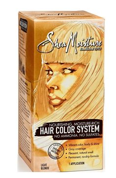 Shea Moisture Hair Color System Light Blonde - Sulfate-Free Permanent Hair Dye With No Ammonia - Salon Quality Moisture, Strength & Shine. BOLD, VIBRANT COLOR - Home Hair Coloring System Infuses Locks With Deep, Brilliant Pigment in Variety of Stunning Shades; Just Apply, Leave In & Wash Out. NOURISHING TREATMENT - Keep Hair Healthy & Strong With Permanent Dye Free of Harmful Sulfates & Ammonia; Includes Natural & Certified Organic Ingredients. MOISTURE RICH FORMULA - Hydrating Elements...