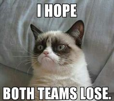I Hope Both Teams Lose | Grumpy Cat Meme | Grumpy Cat No - Meme