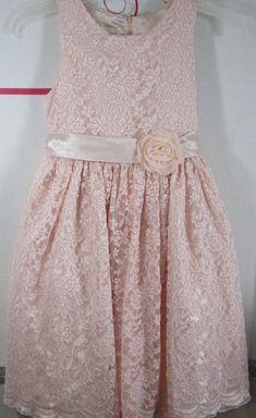 104c1a943 Amercian Princess Dress 12 Peachy-Pink Lace Underlay Crinoline Knee Length  NWT #AmericanPrincess #PrincessDress #DressyPartyWedding