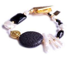 N°243 The Black & White Survival Instinct Statement Bracelet