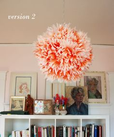 Ombre Chrysanthemums - Paper lantern DIY.    This is really cute.  :-)