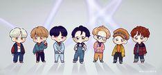 Cute Laptop Wallpaper, Cartoon Wallpaper, Bts Wallpaper, Jimin Fanart, Kpop Fanart, Bts Chibi, Anime Chibi, Bts Anime, Cute Kawaii Drawings