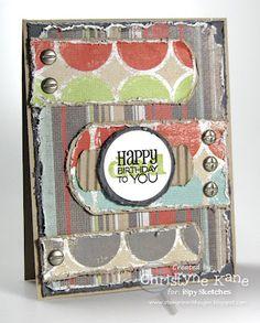 Masculine birthday card by Christyne Kane using Verve Stamps.