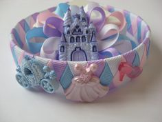 Woven Headband Princess and Loopy Bow by Bettysgirlybowtique, $6.50