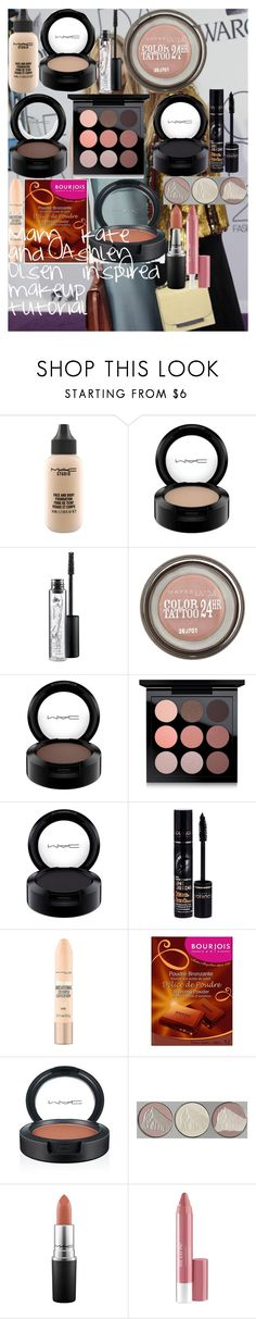 """""""Mary kate and Ashley Olsen inspired makeup tutorial"""" by oroartye-1 on Polyvore featuring beauty, MAC Cosmetics, Maybelline, Bourjois, Chantecaille and Revlon"""