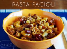 Pasta Fagioli | OAMC from Once A Month Mom