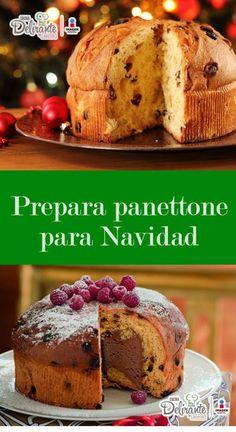 receta fácil de panettone | CocinaDelirante Pastry Recipes, Bread Recipes, Dessert Recipes, Cooking Recipes, Desserts, Dessert Ideas, Fall Recipes, Sweet Recipes, Tasty