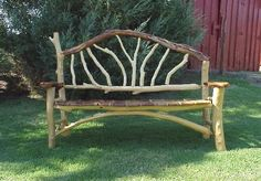 Natural Tree Furniture Rustic Twig Bench Settee