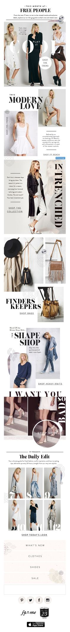 Free People | newsletter | fashion email | fashion design | email | email marketing | email inspiration | e-mail