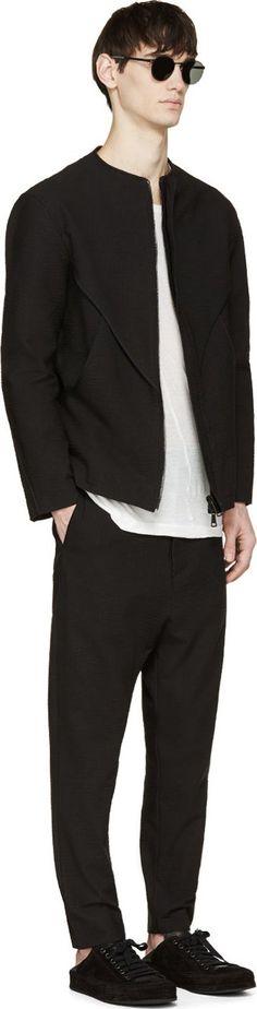 Alexandre Plokhov Black Seersucker Bound Jacket