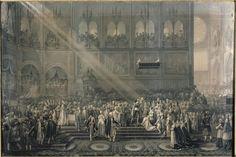 GOUBAUD Innocent Louis  Le baptême du roi de Rome à Notre-Dame le 10 juin 1811