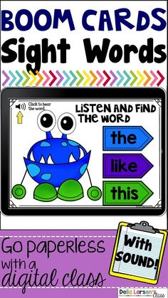 Boom Cards Monster Sight Words – Summerbreeze Q – technologie Sight Word Practice, Sight Word Games, Sight Word Activities, Sight Words, Google Classroom, Classroom Ideas, Future Classroom, Classroom Activities, Word Work Centers