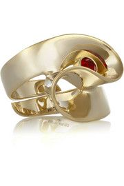 EtroGold-plated crystal ring