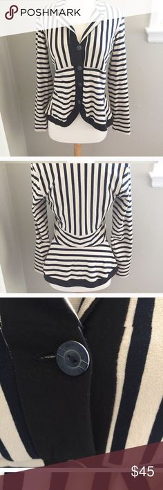 STRIPPED COTTON BLAZER Feel free to ask any questions, make a reasonable offer, or add to a bundle for 15% off 2 or more items. Lilith Jackets & Coats Blazers