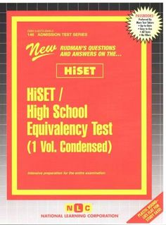 HiSET / High School Equivalency Test: Condensed