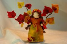 Herbst - Herbst-Efeu Blumenkind Jahreszeitentisch - ein Designerstück von Katjas-Puppenstuebchen bei DaWanda