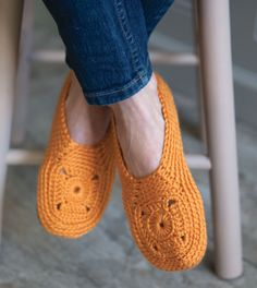 Crochet to calm crochet slippers