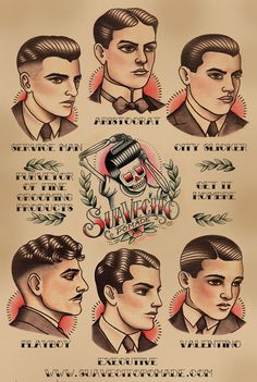Ideas Vintage Tattoo Style Rockabilly For 2019 Vintage Style Tattoos, Style Vintage, Tattoo Vintage, Vintage Beauty, Sailor Jerry, Gakkin Tattoo, Image Girly, Barber Poster, Barber Logo