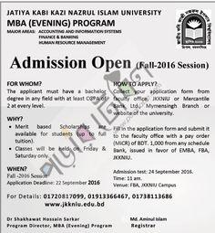 JKKNIU EMBA admission Notice, Result 2016