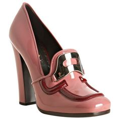Prada cherry patent leather buckle pumps ($517) ❤ liked on Polyvore featuring shoes, pumps, heels, prada, sapatos, women, prada shoes, prada pumps, high heel shoes e heels & pumps