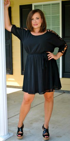 Perfectly Priscilla Boutique - Give 'em the Cold Shoulder, $45.00 (http://www.perfectlypriscilla.com/give-em-the-cold-shoulder/) Available in sizes XL-3X