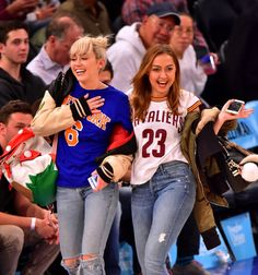Pin for Later: Miley Cyrus Casually Flaunts Her Engagement Ring at a Basketball Game With Her Sister