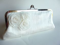 Bridal Accessories clutches Snow Flower Kiss Clasp by keepbags, $75.00