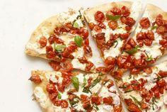 Homemade gourmet looking pizza