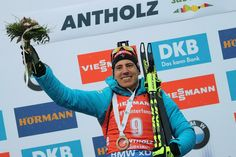 Quentin Fillon Maillet wins mass start in Anterselva 2019 for the first time in his life. Congrats! (photo by Petr Slavík)