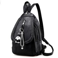 Leisure PU Black Weave Bag Small Multi-function Shoulder Bag