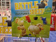 One of Blue Orange's latest additions, is this fun yet strategic game of Battle Sheep. Take over as much of the pasture as you can while not getting trapped in a corner.