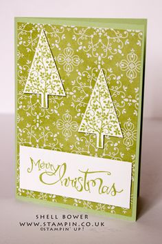 Stampin' Up! I just love festival of tree's and the matching punch.