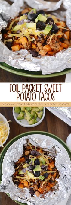 Making dinner in a foil packet is just fun and these Foil Packet Sweet Potato Tacos are plain delicious.