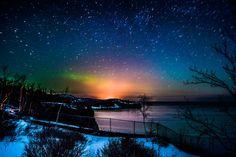 #MSPDestination Northern lights dance over Split Rock Lighthouse by Joe_Vogel
