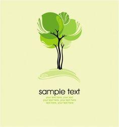 green tree illustration series 03 vector