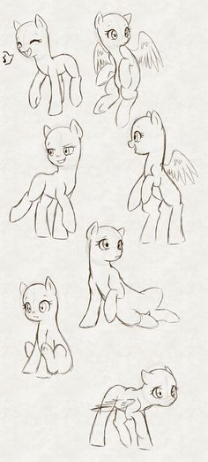 MLP Poses by hikariviny.deviantart.com on @DeviantArt