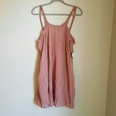 *Memorial Day Sale* L.A. Hearts Mauve Boho Dress Very romantic boho style dress. Delicate straps to expose bare shoulders. Dress is very comfortable and loose fitting, made of 100% cotton, and fits best if you wear large. New with tags still and originally $40.  *No trades   *Bundle to save 10% LA Hearts Dresses