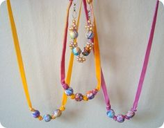 """Loves these! They are made out of her kids scribble papers (crayon)... this will be on my list of """"to do"""" with my daughter."""