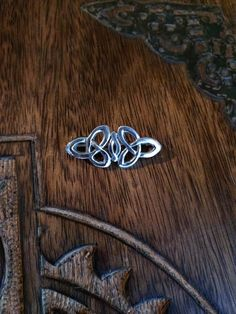 Vintage Sterling Silver Celtic Knot Brooch Cloak Pin Irish Druid