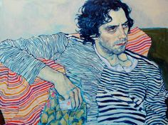 New York based artist Hope Gangloff paints expressive and visually striking portraits with emotional depth. Her portraits primarily depict family, friends and other artists in intimate, vaguely erotic. Hope Gangloff, Kunst Online, Art Plastique, Figure Painting, Pour Painting, Painting Process, Portrait Art, Oeuvre D'art, Figurative Art