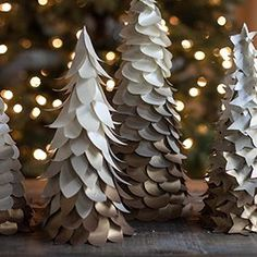 DIY Gold Ombre Trees for Your Holiday Decorations