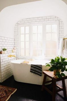 / New Darlings Our Master Bathroom Reveal - Modern Brass and Marble Bathroom - Before and After Photos