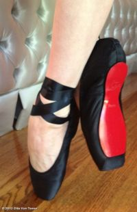ballet pointe shoes by Louboutin (for Dita Von Teese)