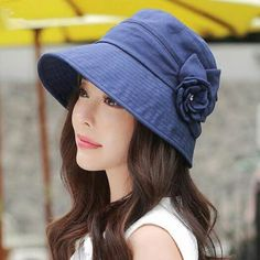 UV bucket hat with flower for women casual summer package sun hats