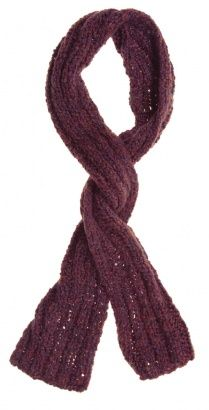 Winter Scarf Purple & Burgundy - Vintage clothing from Rokit - winter scarf, patterned scarf