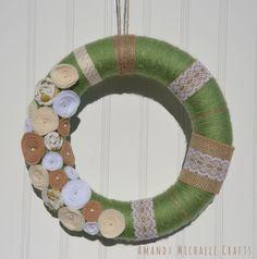 A personal favorite from my Etsy shop https://www.etsy.com/listing/264098658/earth-tone-yarn-wreath