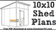 Small Shed Plans, Lean To Shed Plans, Wood Shed Plans, Diy Shed Plans, Coop Plans, Garden Bench Plans, Pergola Plans, Picnic Table Plans, Bbq Table