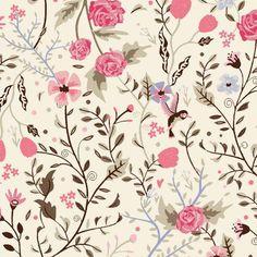 Tricoline Beija-Flor TK1864 * 50cm x 1,50m - Tricoline Estampada Floral / Arabesco