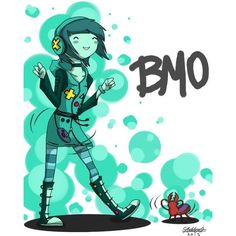 Bmo n The Dancin Bug by YoruNekoChi ❤ liked on Polyvore featuring adventure time and pictures